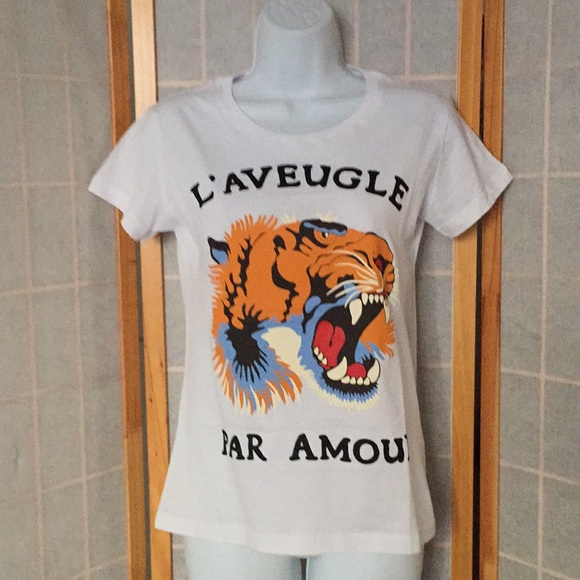 7dca93b24 Gucci Tops | Par Amour Women Tee Tiger Head Sz S 4 | Poshmark